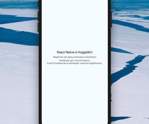 React Native Yeni Uygulama Oluşturma